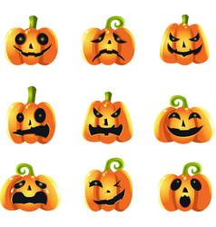Pumpkins expressions vector