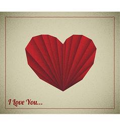 Retro love card vector image vector image
