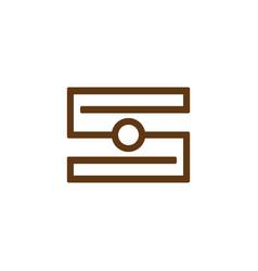 s camera logo vector image