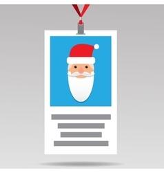 Santa Id card in flat design vector