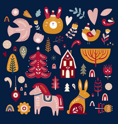 scandinavian christmas vector image