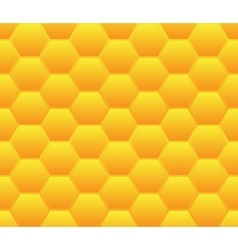 Seamless background template made from hexagons vector image