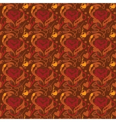 Seamless pattern I love coffee vector image