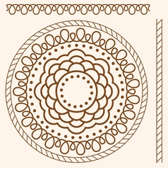Seamless pattern stylized as henna vector image