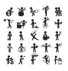 Set of businessman investment vector image