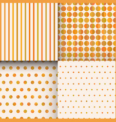 set of seamless cute delicate simple pattern with vector image