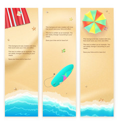 Set of travel banners vector