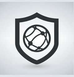 shield internet protection security icon vector image