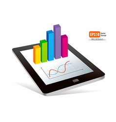Tablet pc touchpad display color diagram vector