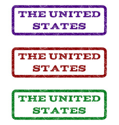 The united states watermark stamp vector