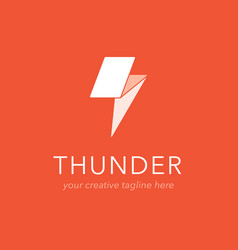 thunder logo design vector image
