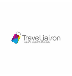 Travel agent logo vector