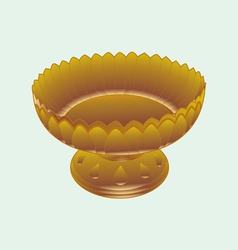 Tray with pedestal vector