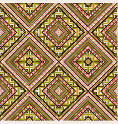 tribal motifs seamless colorful rhombus pattern vector image