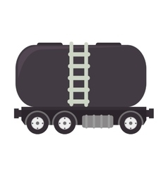 Truck oil gas station vector
