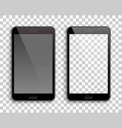 Two phones mockup transparent background vector