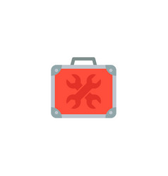 universal toolbox icon flat element vector image