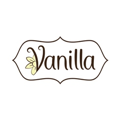 Vanilla flower with text vector