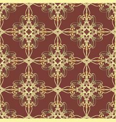 vintage gold damask seamless pattern ornamental vector image