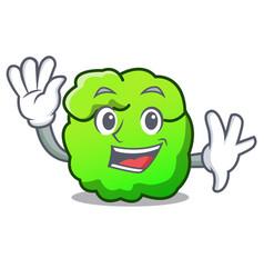 Waving shrub character cartoon style vector