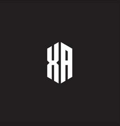 Xa logo monogram with hexagon shape style design vector
