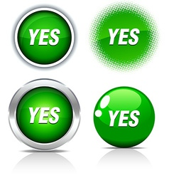 Yes buttons vector
