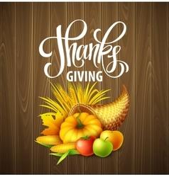 a Thanksgiving cornucopia full of vector image vector image