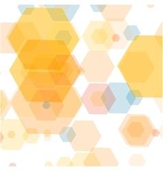 Abstract hexagonal background design vector image vector image