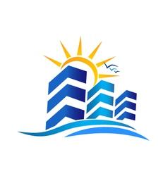 Apartments Real Estate logo vector image vector image