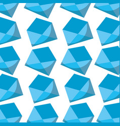 blue envelope message email seamless pattern vector image