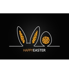 easter design background vector image vector image