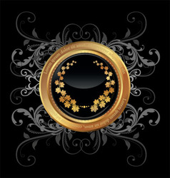 golden medallion vector image vector image