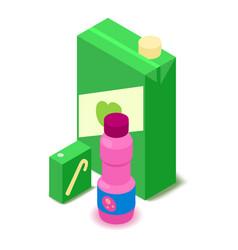 juice icon cartoon isometric 3d style vector image