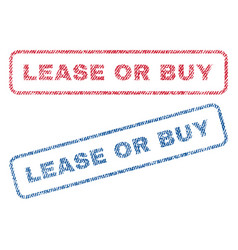 lease or buy textile stamps vector image
