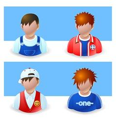 People icons boy and teenage vector
