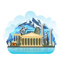the design pattern of the country in greece vector image vector image