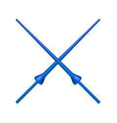 two crossed lances in blue design vector image vector image