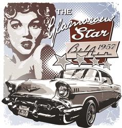 America Glamorous 1957 vector image vector image