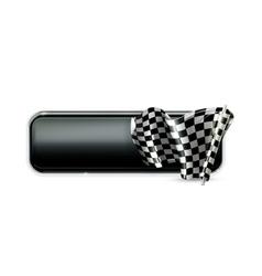 Racing banner flag vector image