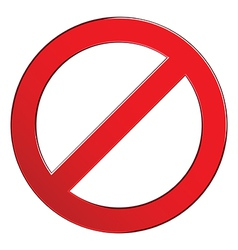 sign forbidden empty vector image vector image