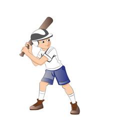 boy playing baseball vector image