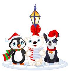 Christmas Carolers vector image