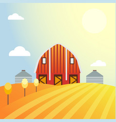 farm agriculture banner rural landscape products vector image