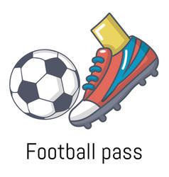 football pass icon cartoon style vector image