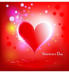 heart shiny holiday vector image