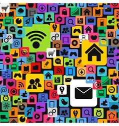Modern color social media icons vector image