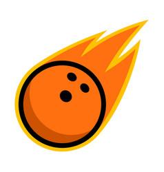 sport ball fire bowling vector image