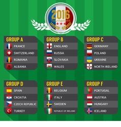 2016 European Football Tournament vector image vector image