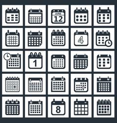 calendar icons design vector image vector image