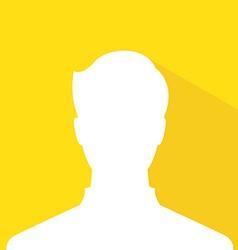 male avatar profile picture gold member silhouette vector image